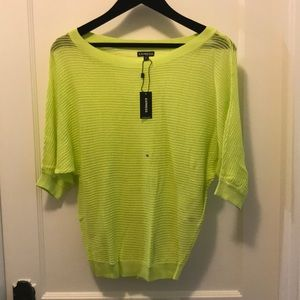 Lime Green Express Sweater NWT